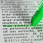 warranty in a dictionary